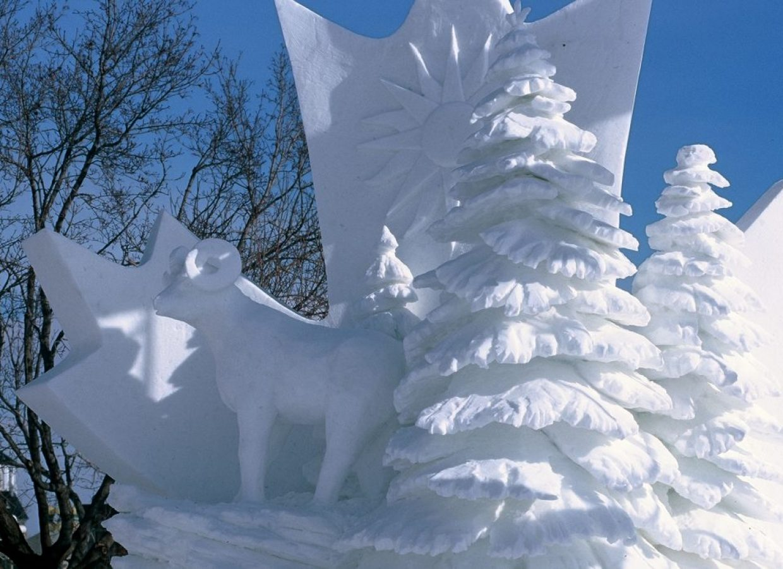 sculpture neige canada