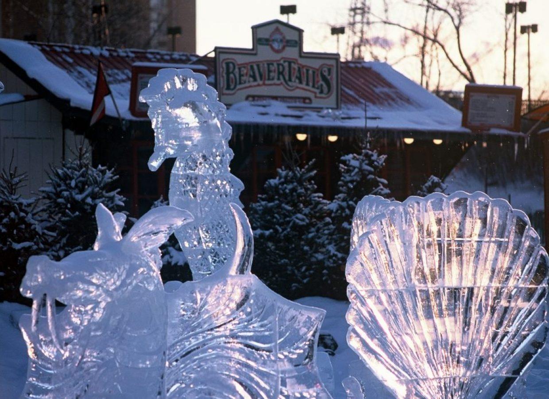 sculpture glace canada