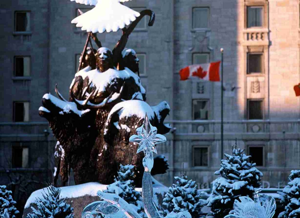 sculptures glace canada