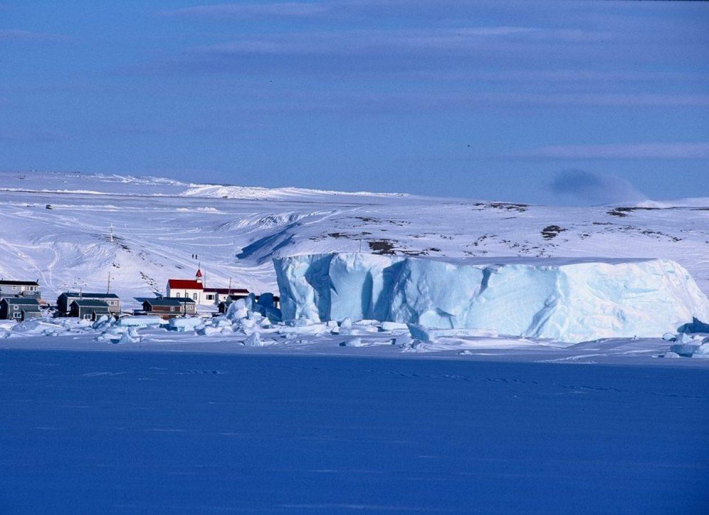 village nunavut iceberg